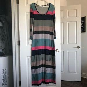 Splendid Multi-Color Maxi Dress